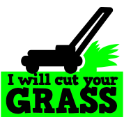 I will cut your grass simple lawn mower